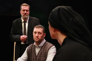 Ralph Scott, Isaac Nippert and Melissa Graves (from left) in CATCO and Gallery Players' co-production of My Name Is Asher Lev (photo by Ben Sostrom)