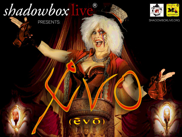 Stacie Boord as the Ringmaster in Evo (Shadowbox Live photo)