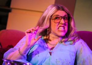 Deb Colvin-Tener in Short North Stage's production of I'll Eat You Last: A Chat With Sue Mengers (photo by Jerri Shafer)