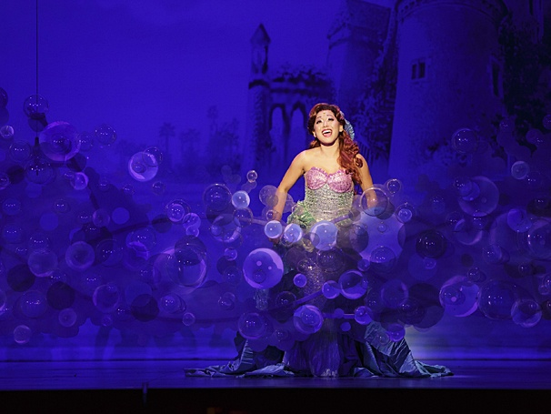 Diana Huey as Ariel in the touring production of The Little Mermaid, presented by Broadway in Columbus and CAPA (Photo by Mark & Tracy Photography)