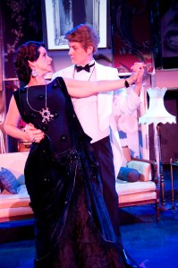 Norma Desmond (Gina Handy) tangoes with Joe Gillis (Chris Shea) in Short North Stage's production of Sunset Boulevard (photo by Heather Wack)