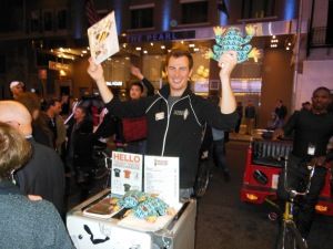 Actor and OSU grad Paul Moon sells Book of Mormon memorabilia while waiting for his own show, My Big Gay Italian Wedding, to return to the stage