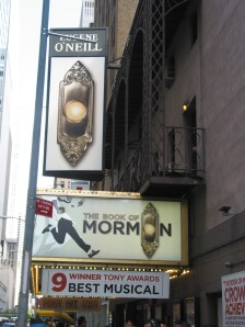 The Eugene O'Neill Theatre is the Broadway home of The Book of Mormon (photos by Richard Ades)