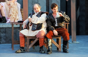John Tener (left) as Falstaff and David Tull as Prince Hal in Henry IV, Part One (photo by Matt Hermes)