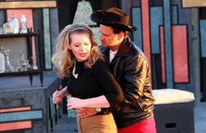 Amanda Cawthorne as Kate and Tim Browning as Petruchio in The Taming of the Shrew (photo by Matt Hermes)