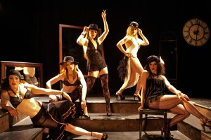 Amy Lay, Morgan Mosley, Nikki Fagin, Stacie Boord and Edelyn Parker (from left) in Burlesque Behind the Curtain (Shadowbox Live photo)