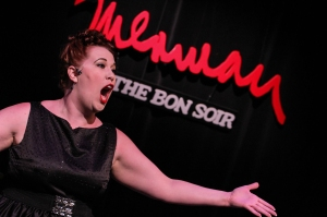 Heather Carvel as the title performer in Big Voice: The Ethel Merman Experience (photo courtesy of Warehouse Theatre Company)
