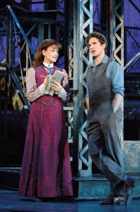 Stephanie Styles and Dan DeLuca play Katherine and Jack in the touring production of Newsies (photo by Deen van Meer)