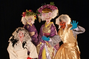 Julie Klein, Nikki Fagin, Stacie Boord and Billy DePetro (from left) in The Tenshu (Shadowbox Live photo)