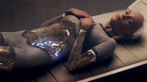 Alicia Vikander as an advanced robot named Ava in Ex Machina