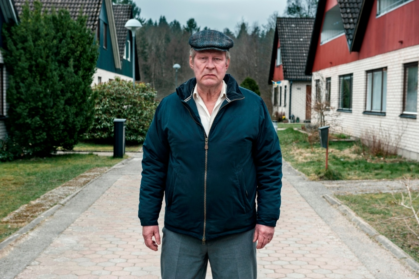 Rolf Lassgard as the gruff title character in A Man Called Ove