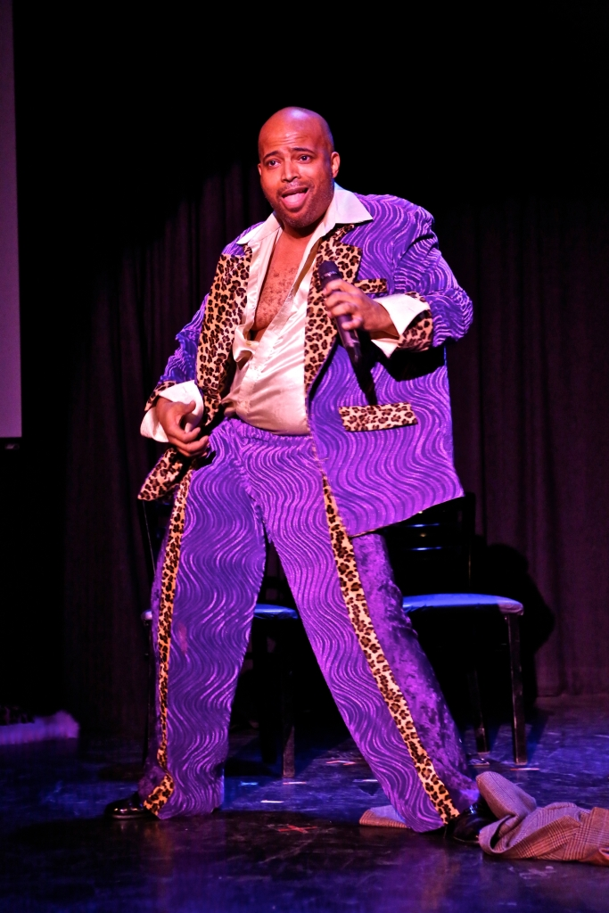 Brandon Anderson as Funk Daddy Love in a skit from Body Heat (Shadowbox Live photo)