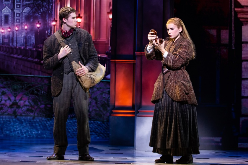 Jake Levy (Dmitry) and Lila Coogan (Anya) in National Tour of ANASTASIA. Photo by Evan Zimmerman, MurphyMade